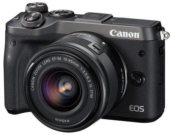 CANON EOS M6(ブラック)・EF-M15-45 IS STM EOSM6BK-1545ISSTMLK(1724C014)【smtb-s】