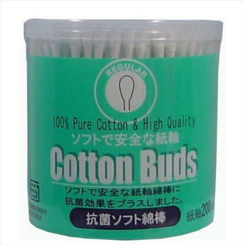 安心と信頼 送料無料 サンリツ 送料0円 抗菌レギュラー綿棒 200本×120個