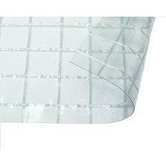 日中製作所 ビニールカーテン 0.25mm厚 幅8x高1m 透明糸入防炎 HE-2500FCW-04