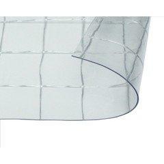 日中製作所 ビニールカーテン 0.55mm厚 幅2x高1m 透明糸入耐候 HE-5560W-01