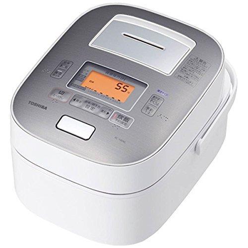 東芝5.5合炊き炊飯器IHジャー炊飯器真空圧力IH鍛造かまど本丸鉄釜RC-10VXL-Wグランホワイト