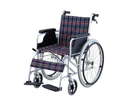 アズワン 車椅子 (自走式/アルミ製/介助ブレーキ付き)*8-5951-01【smtb-s】