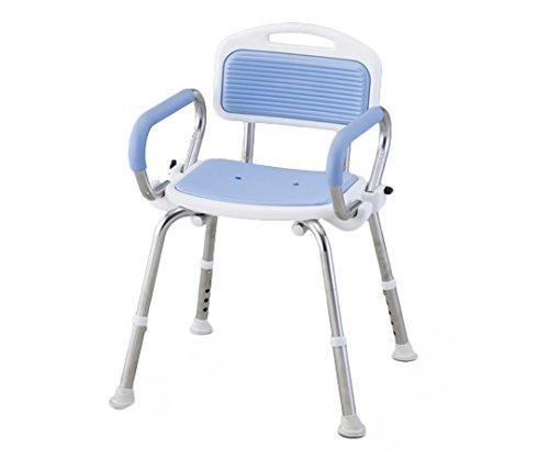 アズワン 業務用シャワー椅子(ステンレスフレーム) 肘付き/ブルーNCLA0546218-2332-01【smtb-s】
