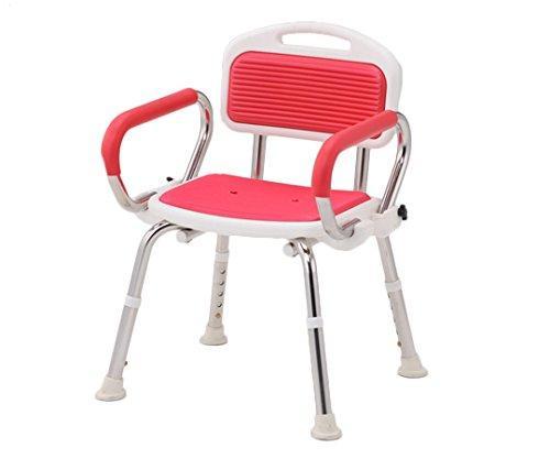アズワン 業務用シャワー椅子(ステンレスフレーム) 肘付き/レッドNCLA0546218-2332-02【smtb-s】