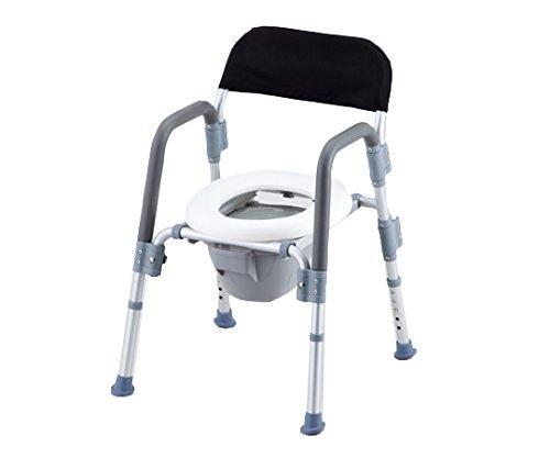 アズワン コンフォートトイレ椅子(折りたたみ式) 背付きNCNJ0669808-4957-02【smtb-s】