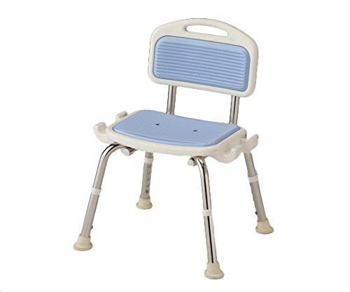 アズワン 業務用シャワー椅子(ステンレスフレーム) 肘無し/ブルーNCLA0546218-2332-03【smtb-s】
