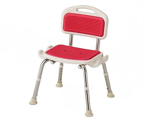 アズワン 業務用シャワー椅子(ステンレスフレーム) 肘無し/レッドNCLA0546218-2332-04【smtb-s】