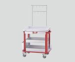 アズワン IVカート(点滴処置車) レッドNCNL1503767-1252-01