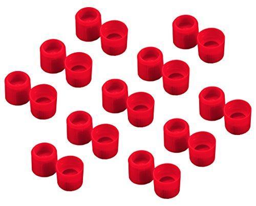 アズワン サンプルチューブ(外ネジ)用キャップ T502R 赤 1000個入1袋(1000個入り)3-7005-16