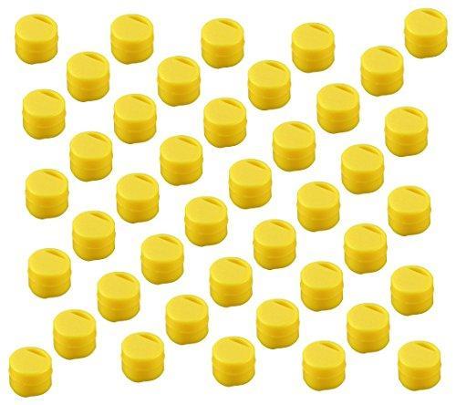 アズワン クライオチューブCryoFreeze(R) 6000-06 キャップインサート(黄) 500本/袋×4袋入1箱(500個×4袋入り)3-6367-06