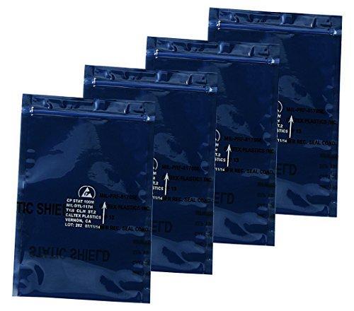 アズワン ESDシールドバッグ(5層タイプ) ジッパータイプ 250×300×0.076NC3-6879-013-6880-06【smtb-s】