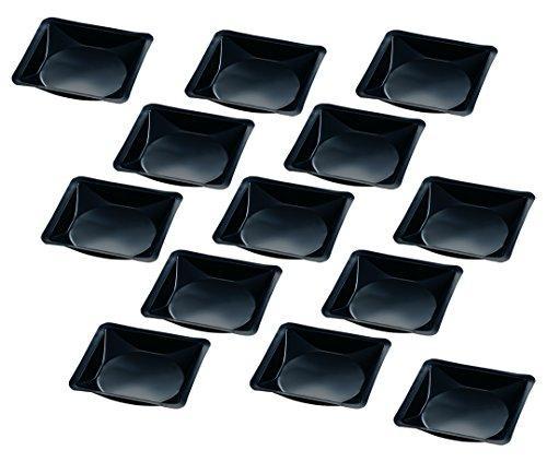 アズワン ウェニングボート 140×140×22mm ナチュラル 黒 500枚入1袋(500枚入り)3-6026-09【smtb-s】