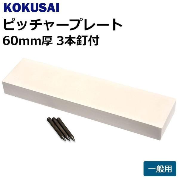 コクサイ KOKUSAI ピッチャープレート 一般用 60mm厚 3本釘付 1枚 RB560 (1083870)【smtb-s】
