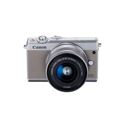 CANON EOS M100(グレー)・レンズキット EOSM100GY-1545ISSTMLK(2211C014)【smtb-s】
