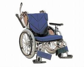 カワムラサイクル 自走用車椅子 低床型簡易モジュール KZ20-40-LO 低床タイプ / 座幅40cm No.69 (メッシュ青)【smtb-s】