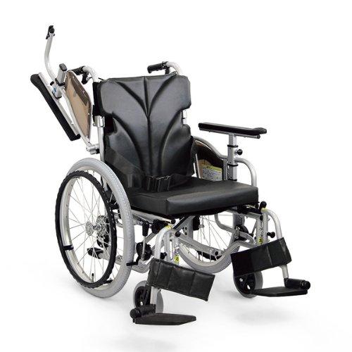 カワムラサイクル 自走用車椅子 低床型簡易モジュール KZ20-42-SL 超低床タイプ / 座幅42cm No.69 ( メッシュ青 )