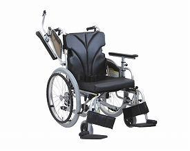 カワムラサイクル 自走用車椅子 低床型簡易モジュール KZ20-42-SL 超低床タイプ / 座幅42cm No.88 (エコブラック)【smtb-s】