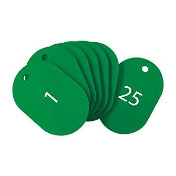 送料無料 オープン BF50GNOP 番号札 大 25枚入 番号入り1~25 受注生産品 ストア 緑 8355201