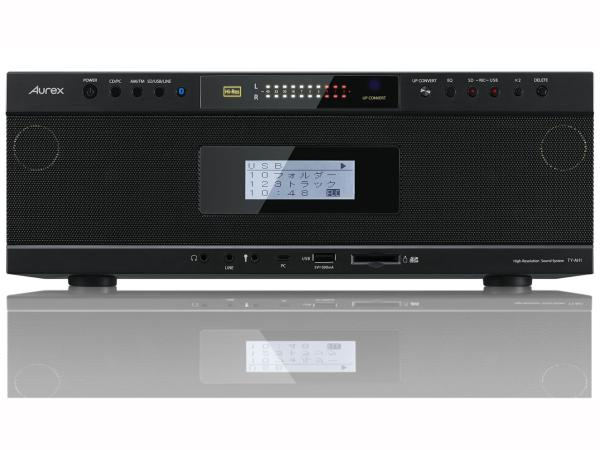 東芝 TY-AH1(K) 【ハイレゾ音源対応】 Aurexシリーズ ワイヤレス再生対応SD/USB/CDラジオカセットレコーダー ブラック(TY-AH1(K))
