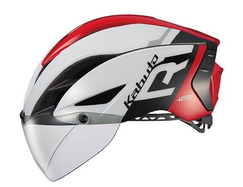 OGK KABUTO(オージーケーカブト) ヘルメット AERO-R1 ホワイトレッド L/XL (頭囲:59cm-61cm)【沖縄・離島への配送不可】【smtb-s】