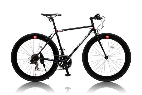 CANOVER(カノーバー) 【CANOVER】CAC-024 HEBE ブラック クロスバイク(25586) ※北海道、沖縄、離島配送不可【沖縄・離島への配送不可】【smtb-s】