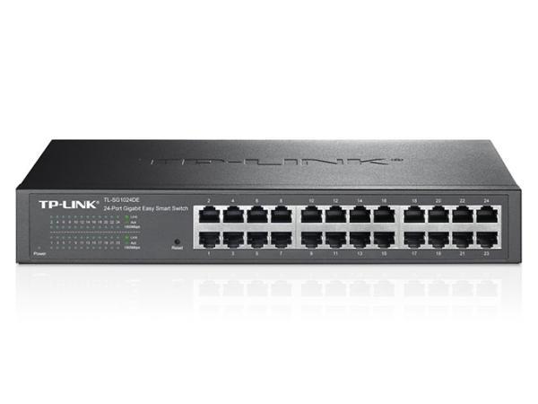TP-LINK TP-Link イージースマートスイッチ 24ポート 10/100/1000Mbps Giga対応 管理機能付 金属筺体 5年保証 TL-SG1024DE【smtb-s】