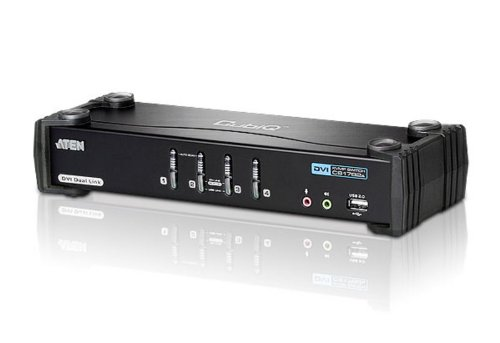 ATENジャパン CS1784A デュアルリンクDVI対応 4ポートKVMPスイッチ USB2.0ハブ搭載 (CS1784A)【smtb-s】