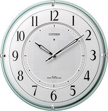 シチズン 掛け時計 電波 アナログ ソーラー 補助電源 M851 グリーン購入法 適合商品 秒針なし 緑 CITIZEN 4MY851-005【smtb-s】