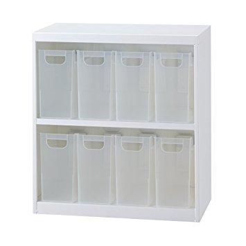 ナカバヤシ ボックスインフロアケース オープンタイプ ファイルボックス小8個タイプ ホワイト【smtb-s】