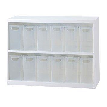 ナカバヤシ ボックスインフロアケース オープンタイプ ファイルボックス小12個タイプ ホワイト【smtb-s】