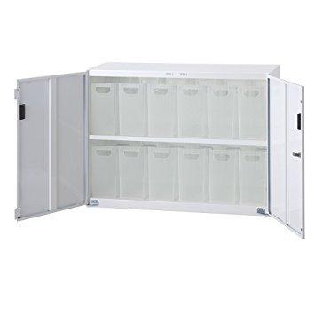 ナカバヤシ セキュリティボックスインフロアケース 扉付きタイプ ファイルボックス小12個タイプ ホワイト【smtb-s】