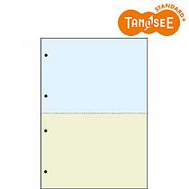 オリジナル TANOSEE 汎用マルチタイププリンタ帳票 カラー用紙 A4 2分割 4穴 2500枚入(CPPA42C25F)【smtb-s】