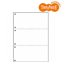 オリジナル TANOSEE 汎用マルチタイププリンタ帳票 白紙 A4 3分割 6穴 2500枚入(CPPA43W25F)【smtb-s】