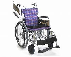 カワムラサイクル 自走用車いす KA800Light 中床・ソフトタイヤ仕様 KA822L-42B-MS A11 / 座幅42cm A11