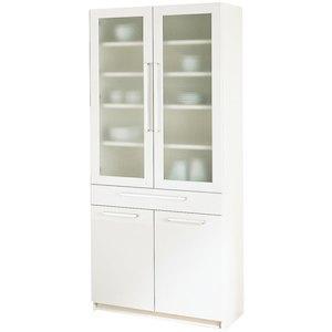 パモウナ 食器棚YC 【幅80×高さ180cm】 YC-S800K プレーンホワイト【smtb-s】
