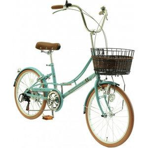 TOP ONE トップワン  リサとガスパール 20小径自転車6段変速付 LG206-76-BL:ノスタルジックブルー【沖縄・離島への配送不可】【smtb-s】