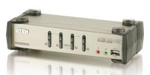 ATEN マルチインターフェース 4ポート KVMPスイッチ USB 2.0ハブ(CS1734B)【smtb-s】