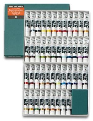 ターナー色彩 アクリルガッシュ ジャパネスクカラー 20mlラミネートチューブ入り 45色セット (6483at)AGJ2045C【smtb-s】