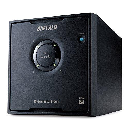 バッファロー ドライブステーション RAID 5機能搭載 USB3.0用 外付ハードディスク 4ドライブ 12TB(HD-QL12TU3/R5J)【smtb-s】