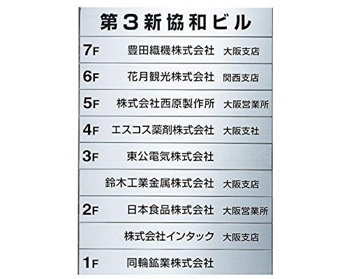 新協和 テナント案内板無地 SK-300SDN-10【smtb-s】