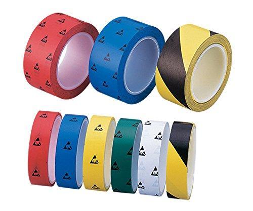 アズワン(As One) アズピュアESD PETラインテープ 黄/黒 25mm×33m 10巻入NC1-4807-611-4807-66【smtb-s】
