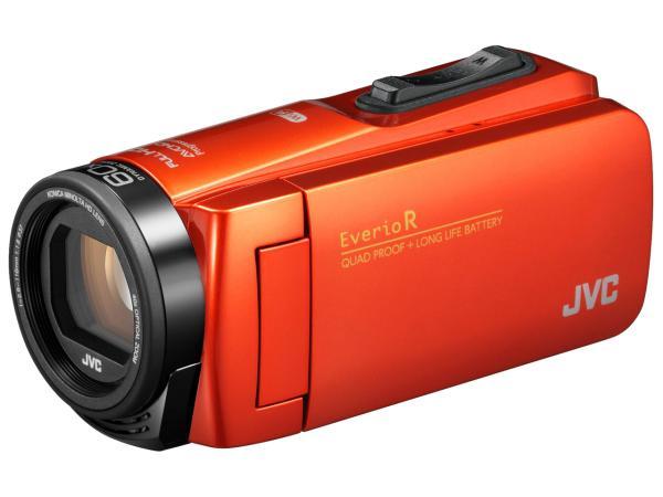 ケンウッド JVCKENWOOD JVC ビデオカメラ Everio R 防水 防塵 Wi-Fi 64GB内蔵メモリー ブラッドオレンジ GZ-RX680-D【smtb-s】