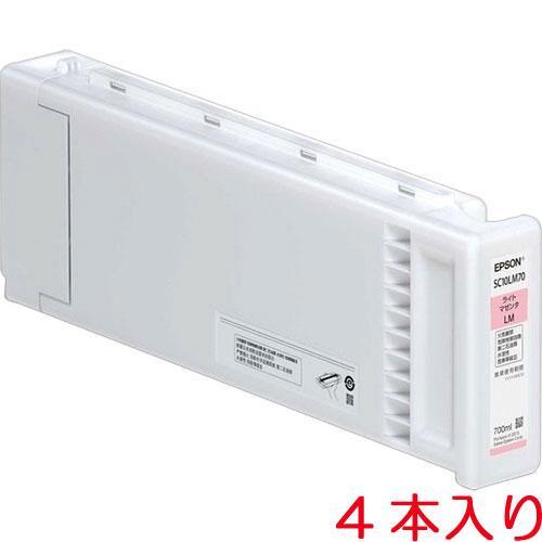 EPSON インクカートリッジ(ライトマゼンタ700ml×4本入り)(SC10LM70P)【smtb-s】