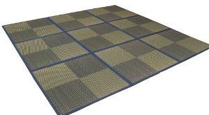 イケヒコ・コーポレーション ユニット畳 『ニール』 ブルー 82×82×1.7cm(12枚1セット) 軽量タイプ【smtb-s】