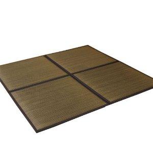カウモール ユニット畳 『タイド』 ブラウン 82×82×2.3cm(9枚1セット)(中材:低反発ウレタン+フェルト)【smtb-s】