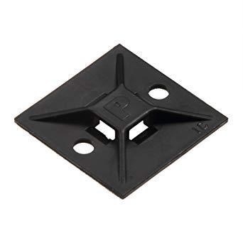 パンドウイットコーポレーション(PANDUIT) パンドウイット マウントベース ゴム系粘着テープ付き 黒 ABM112AD20 4036514【smtb-s】