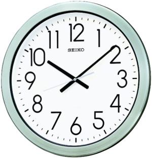 SEIKO CLOCK (セイコークロック) 掛け時計 アナログ 防湿・防塵型 オフィスタイプ 金属枠 KH407S【smtb-s】