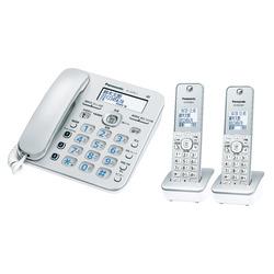 パナソニック コードレス電話機(子機2台付き)シルバー VE-GD36DW-S(VE-GD36DW-S)【smtb-s】