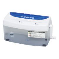 送料無料 大注目 アイリスオーヤマ ハンドシュレッダー ブルー 新品 H1ME 530682 14-8221-417
