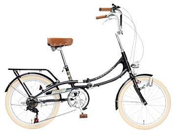 TOP ONE トップワン Classical 20型折りたたみ自転車 FLM206-76-BK ブラック【沖縄・離島への配送不可】【smtb-s】
